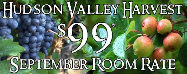 Hudson Valley September Hotel Discount