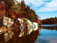 Lake Minnewaska Autumn Leaves